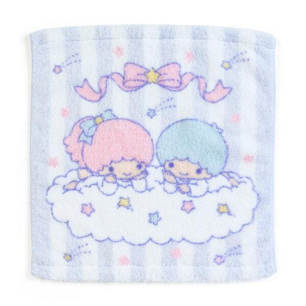 【真愛日本】18052300035純綿無撚系方巾-TS星星ACP雙子星KIKILALA盥洗方巾擦手巾
