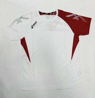 [陽光樂活=]ASICS 亞瑟士 室內運動系列 球衣 排汗衣 練習衣 K31408-0123 白色