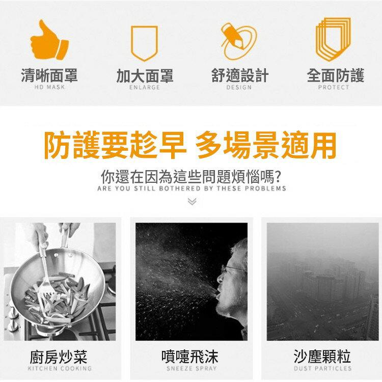 台灣製造 火速出貨 MIT 簡易防護面罩 泡棉設計 降低口罩接觸 延長口罩使用壽命 防油飛濺 防口水飛沫 防疫 透明面罩