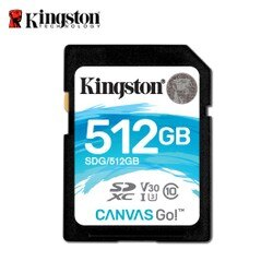 金士頓 512GB Kingston Canvas Go! SDXC UHS-I U3 4K 記憶卡 保固公司貨