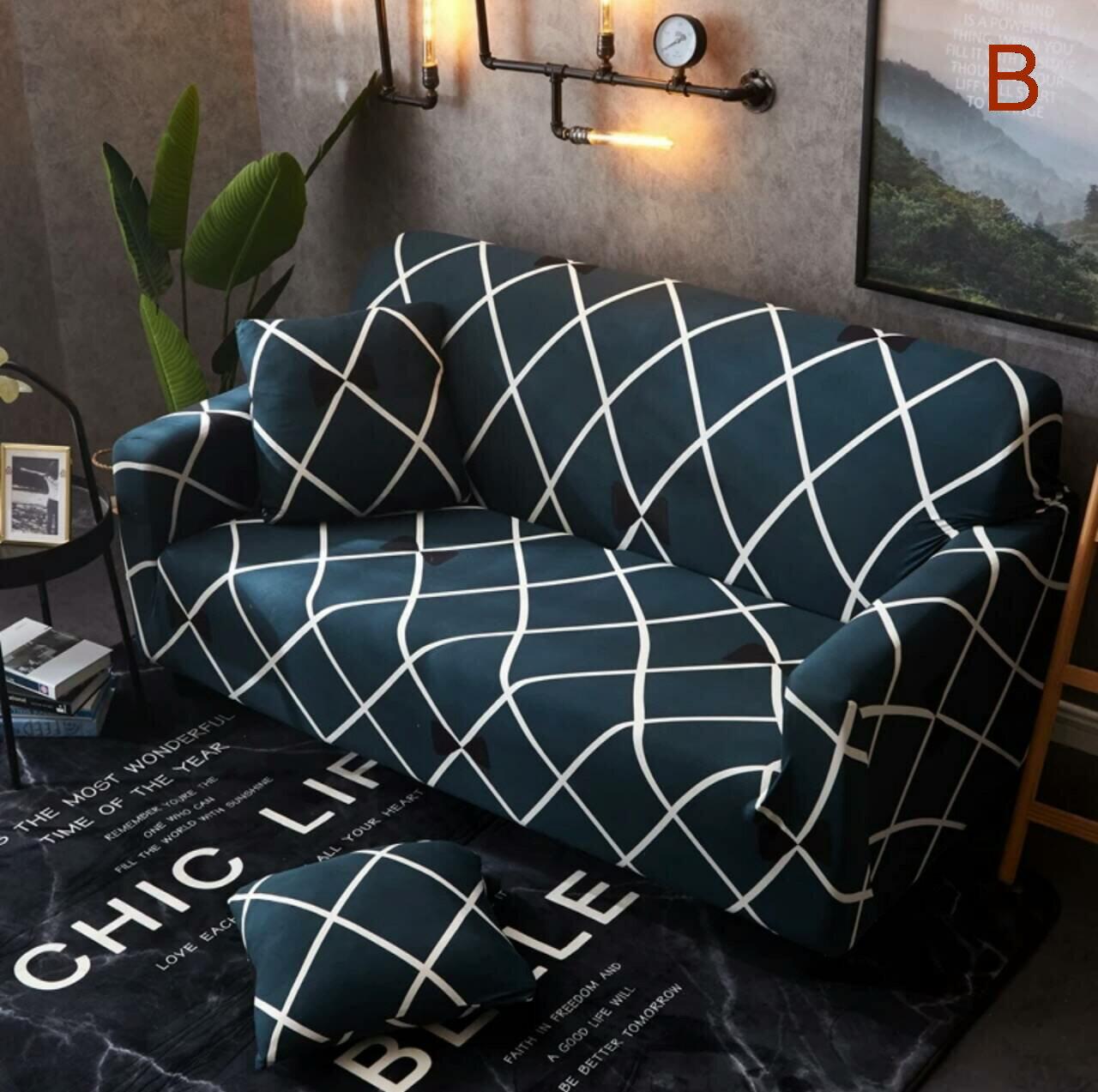 沙發套沙發罩【RS Home】最新45款沙發罩彈性沙發套沙發墊北歐工業床墊保潔墊彈簧床折疊沙發 [送抱枕套]