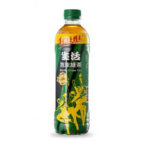 生活 泡沫綠茶 590ml