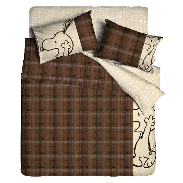 ^( ^) 雙人薄被套 被單6X7尺~SNOOPY史奴比 史努比~就是開心~100^%棉