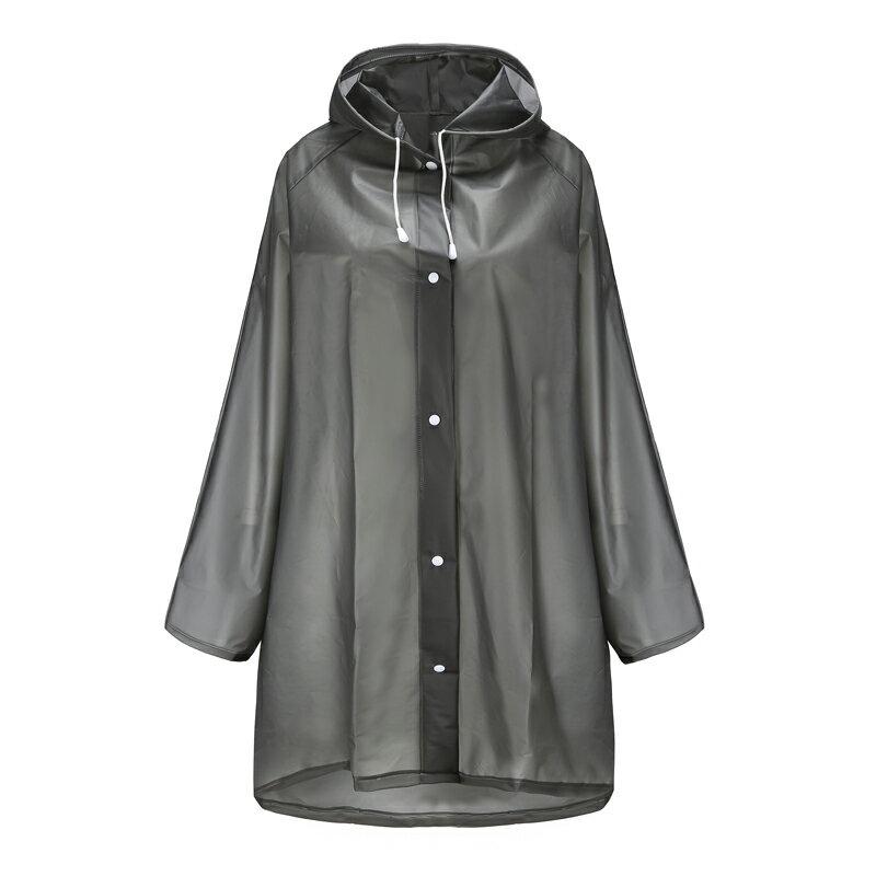 EVA加厚款 成人男生女生雨衣 黑色白色磨砂 半透明 防水 版型修身 優質面料 無異味 戶外雨衣 韓版 雨具 4