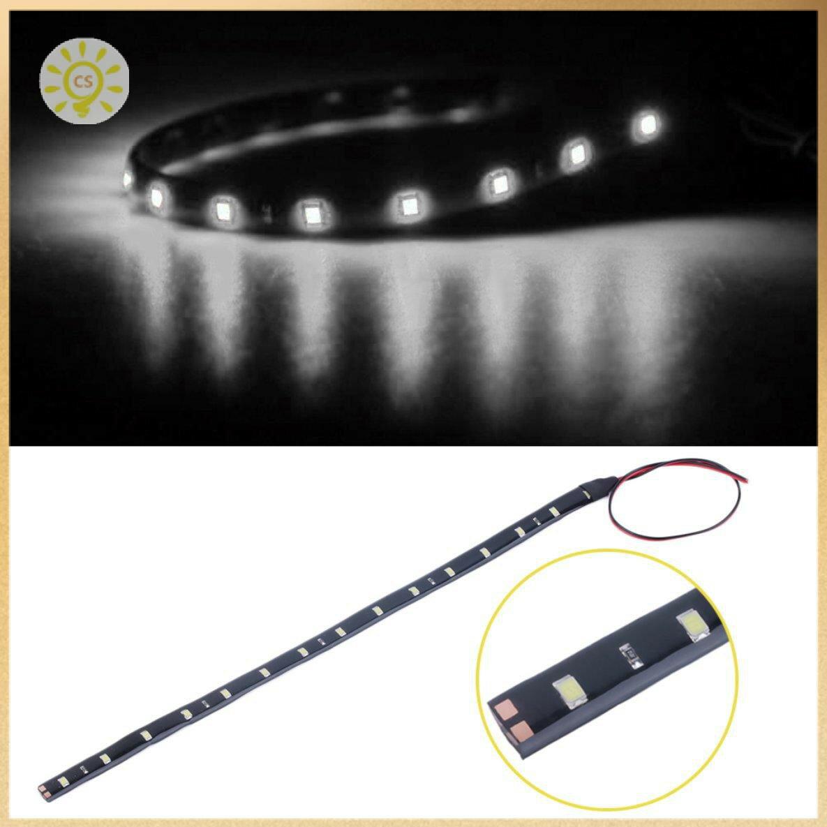 【全館免運】防水30cm 15 LED汽車照明柔性裝飾燈條 clickstorevip