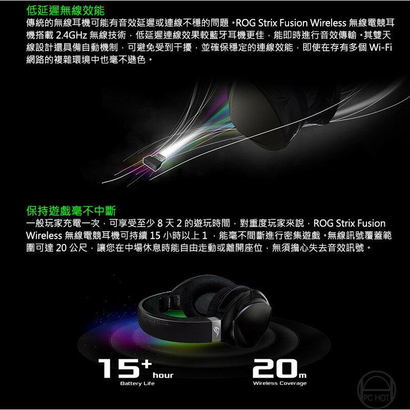 [免運速出] ASUS 華碩 ROG STRIX FUSION Wireless 無線 電競耳機麥可風 3