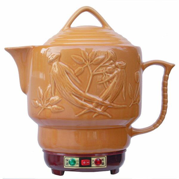 【婦寶】 雙功能(人參)陶瓷煎藥電壺 LF-600SN