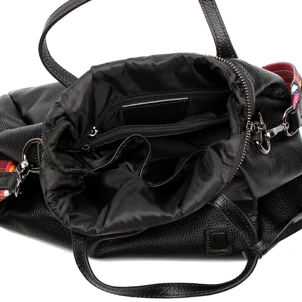 【BEIBAOBAO】歐風編織背帶牛皮三用包(手提+側肩揹+斜背 三用包) 9