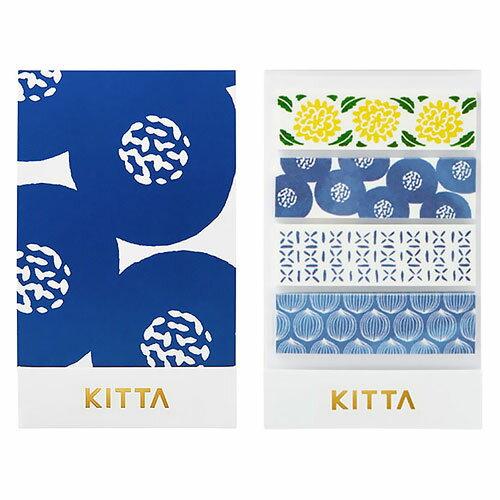 【日本KITTA】隨身攜帶和紙膠帶KIT009圖騰款1本