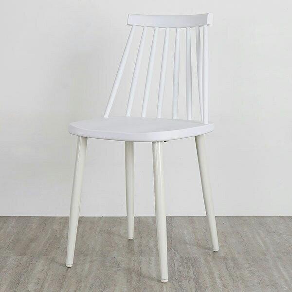 餐椅椅子休閒椅洽談椅《Yostyle》莎拉北歐造型餐椅(亮麗白)