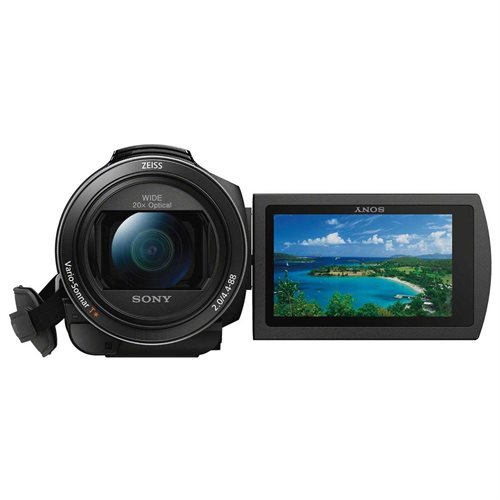 "Sony Handycam FDR-AX53 Digital Camcorder - 3"" - Touchscreen LCD - Exmor R CMOS - 4K - Black - 16:9 - 8.3 Megapixel Video - XAVC S, H.264/MPEG-4 AVC, AVCHD, MP4 - 20x Optical Zoom - 250x Digital Zoom - Optical (IS) - HDMI - USB - SDHC, SDXC, Memory Stick P 1"