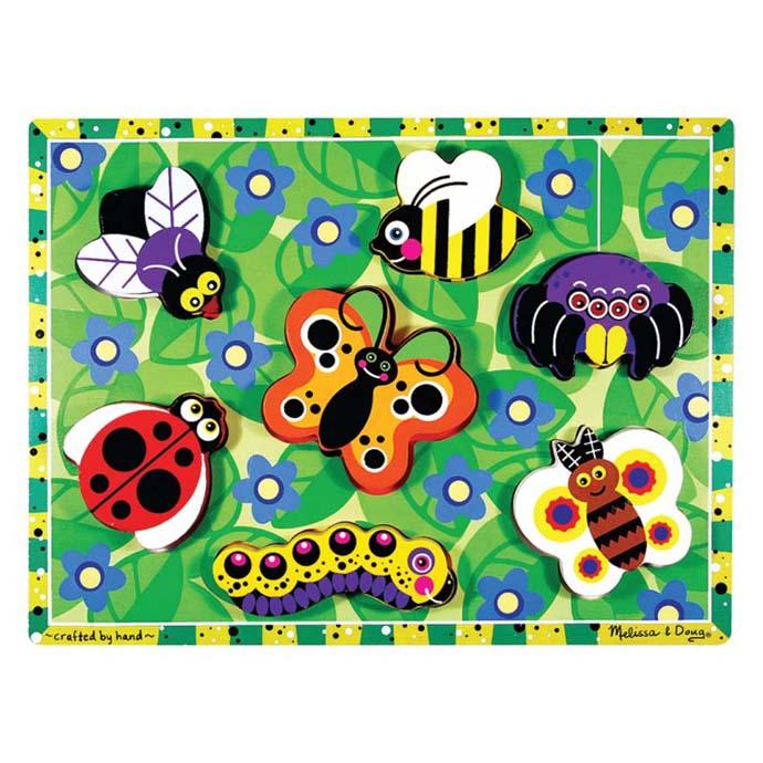 ~華森葳兒童教玩具~拼圖教具系列~厚片拼圖~昆蟲 N7~3729