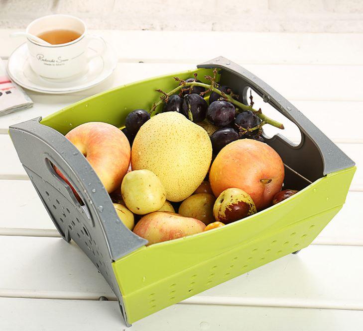 【省錢博士】折疊水果籃 /  瀝水籃 / 蔬果洗菜折疊瀝水籃  99元