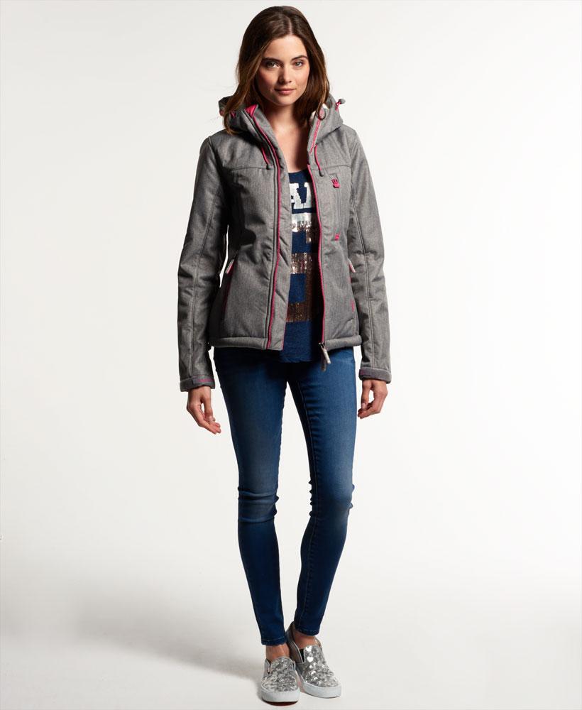 [女款]Outlet英國代購極度乾燥 Superdry Windtrekker 女款 羊羔毛 刷毛 風衣連帽防風防水外套 淺麻灰 2