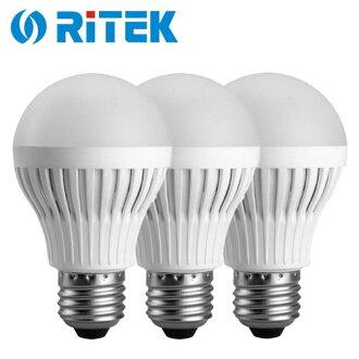 【3入】RiTEK 錸德 7W LED燈泡 黃光【三井3C】