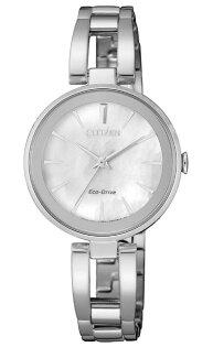 CITIZEN星辰錶EM0631-83DLADY'S光動能極簡手鍊女錶銀28mm