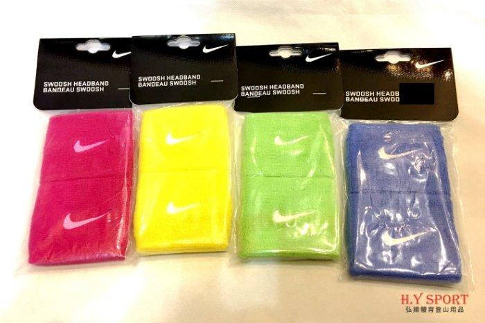 【H.Y SPORT】NIKE 運動護腕 毛巾護腕 兩入組 590294 黃/綠/灰藍/粉