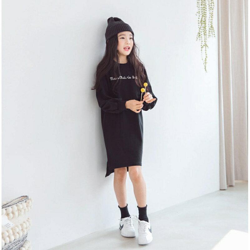 印花長版衛衣 長版上衣 連衣裙 連身洋裝 衛衣 橘魔法 女童 現貨 連身裙【p0061196516113】 0