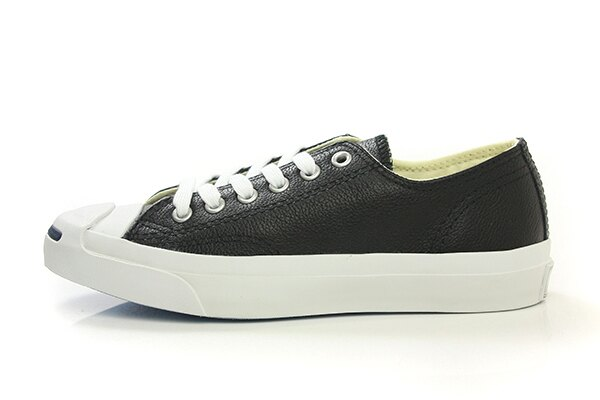 CONVERSE Jack Purcell Leather 休閒鞋 皮革 低筒 開口笑 黑色 男女鞋 UNISEX 1S962 no943 1