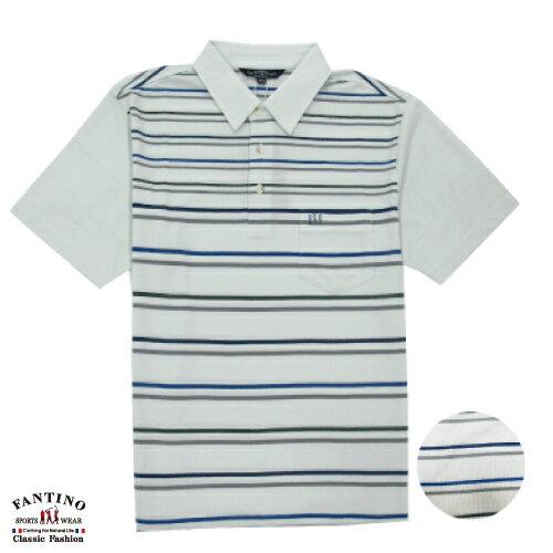 【FANTINO】男裝  休閒條速吸排汗POLO衫(附大尺碼) 531128 - 限時優惠好康折扣
