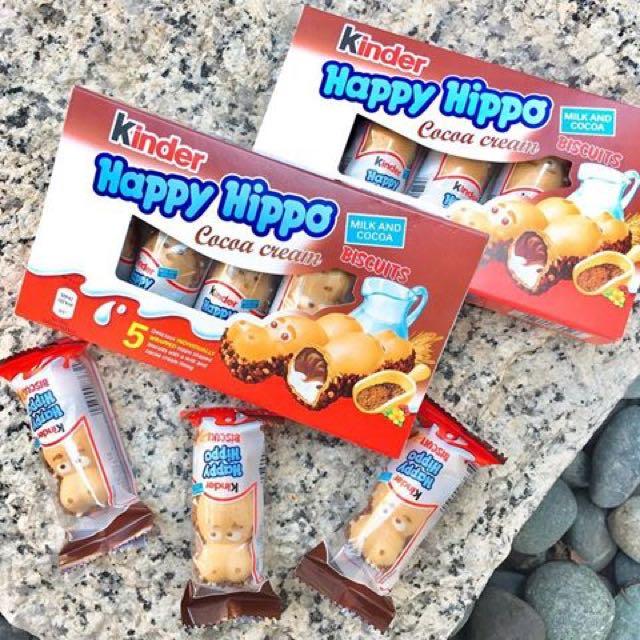 河馬健達繽紛樂 香港跟德國有賣的 河馬建達繽紛樂 河馬巧克力 Kinder Happy Hippo 現貨