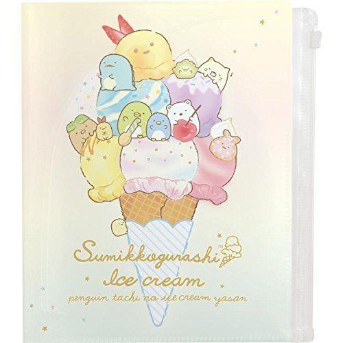 【真愛日本】18051100038對開多層夾鏈資料夾-角落冰淇淋SAN-X角落公仔角落生物資料夾文件夾