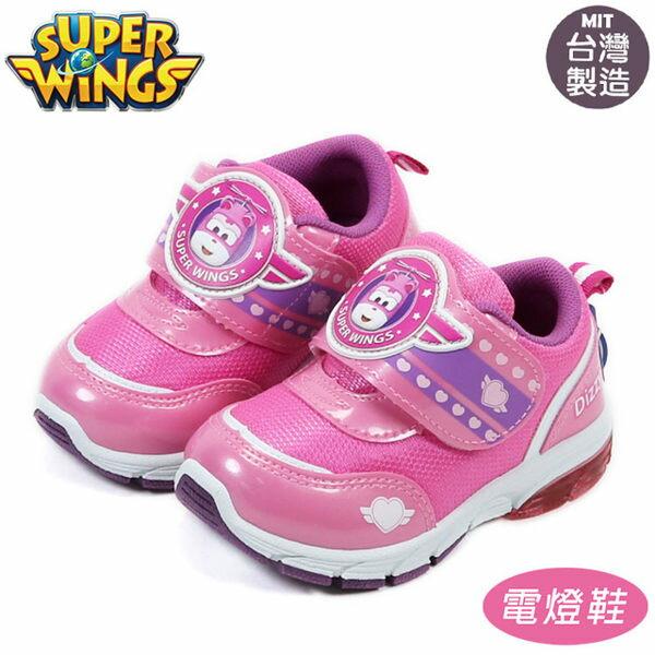 超級飛俠SuperWings蒂蒂兒童鞋底發光燈鞋布鞋.運動鞋粉15-20號~EMMA商城