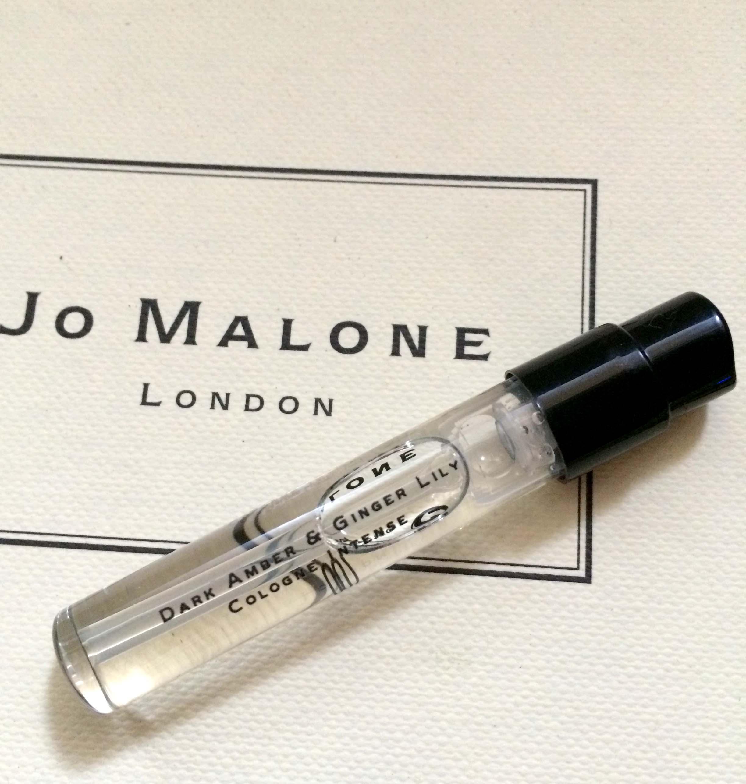 **Realhome*英國香水名牌 Jo Malone 試管小香1.5 ml~黑琥珀與薑百合