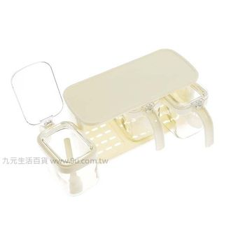 【九元生活百貨】美廚三格方型玻璃調味組 調味盒