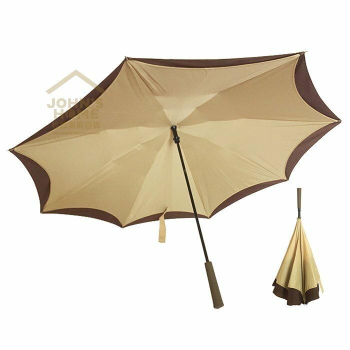約翰家庭百貨》【YX149】AKWATEK英倫風反向傘 雙層防曬隔熱抗UV99%晴雨兩用反摺傘