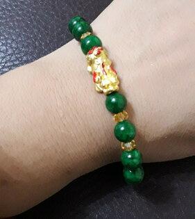 純金9999黃金貔貅串珠手鍊重量0.21錢$2386元