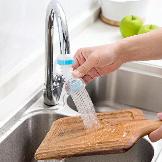 可伸縮水龍頭防濺器 過濾嘴 花灑器 自來水 濾水器 廚房 淨水器 噴頭 過濾器 節水器 ♚MY COLOR♚【P520】