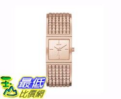 [COSCO代購 如果售完謹致歉意] DKNY Bryant Park 系列玫瑰金不鏽鋼手環造型石英女錶 _W732306