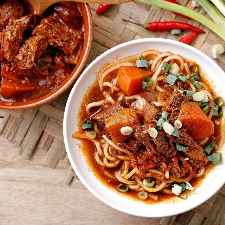 茄汁紅燒牛腩+上海風味小排
