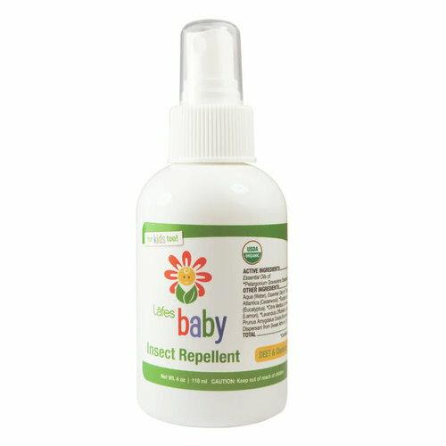 美國 Lafe's Organic 純自然嬰兒防蚊液 118ml 保存期限2019/02 公司貨*夏日微風*