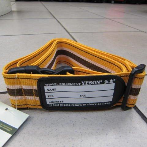 ~雪黛屋~YESON 超級彈性伸縮束帶 任何尺寸行李箱皆適用保謢束帶打包帶防磨損#919亮黃