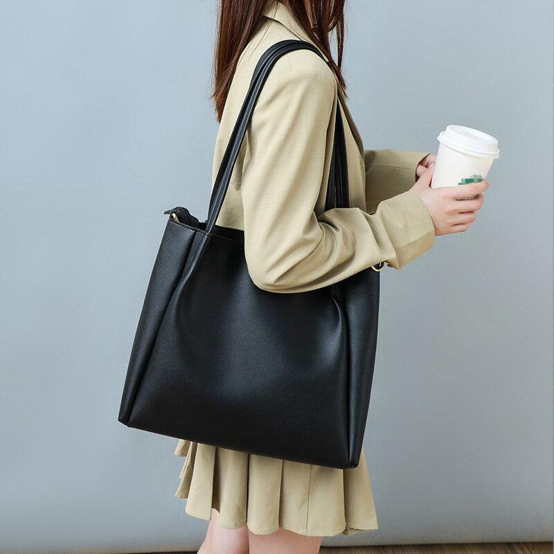 新款潮真皮斜挎托特包大容量時尚2021手提單肩包