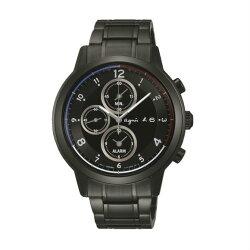 agnes b V172-0AX0D(BY6003P1)太陽能巴黎時尚計時腕錶/黑面42mm