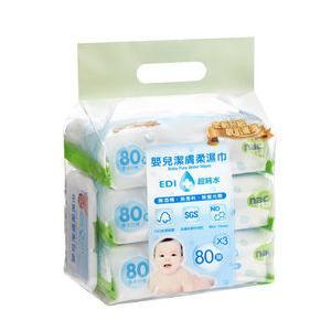 ★『121婦嬰用品館』nac 超純水濕巾(80抽24包/8串/箱)(含蓋)(新包裝)