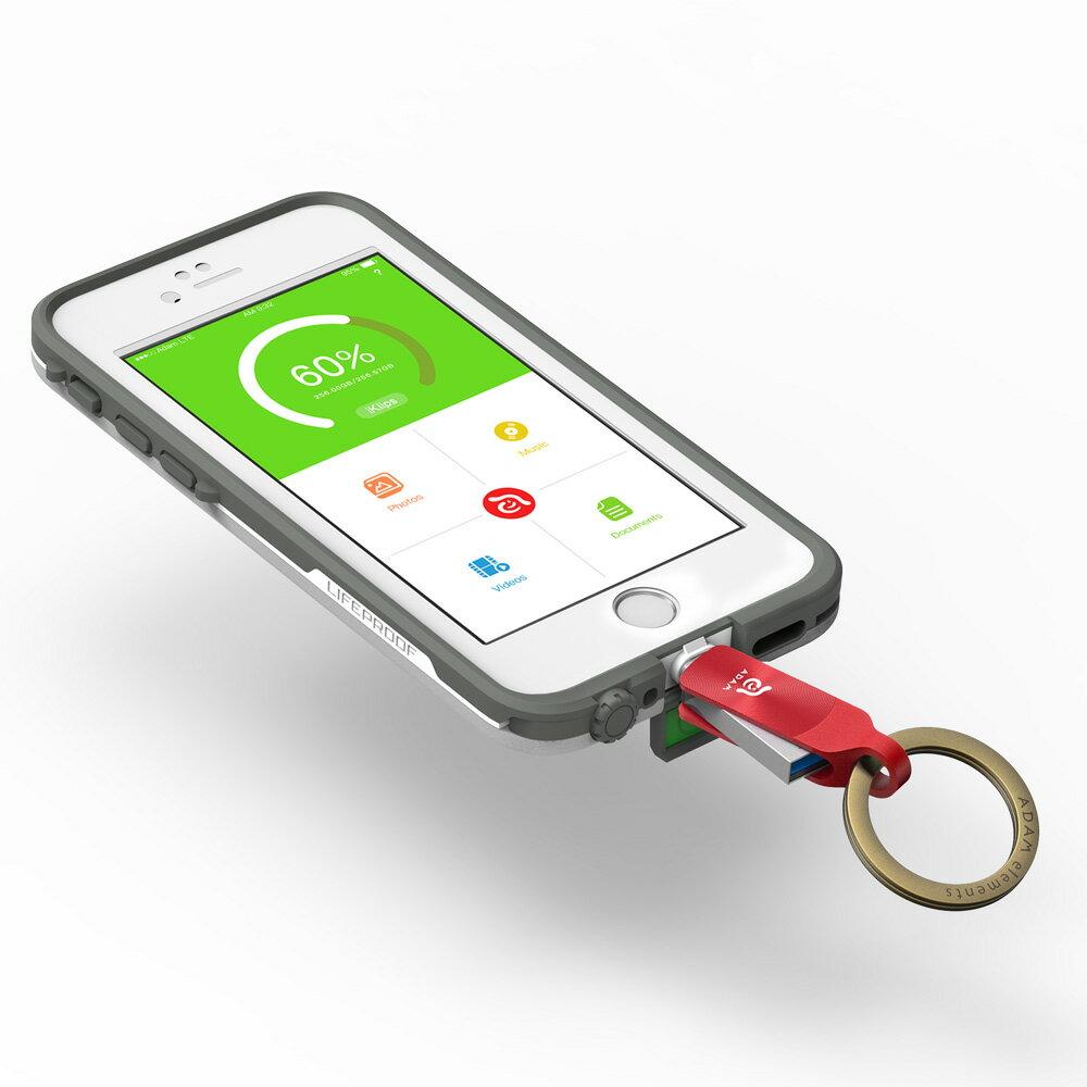 iKlips DUO + Apple 專用雙向USB 3.1 極速多媒體行動碟 64GB【亞果元素】 蘋果/APPLE/手機/3C/iPhone/儲存/隨身碟/輕便 8
