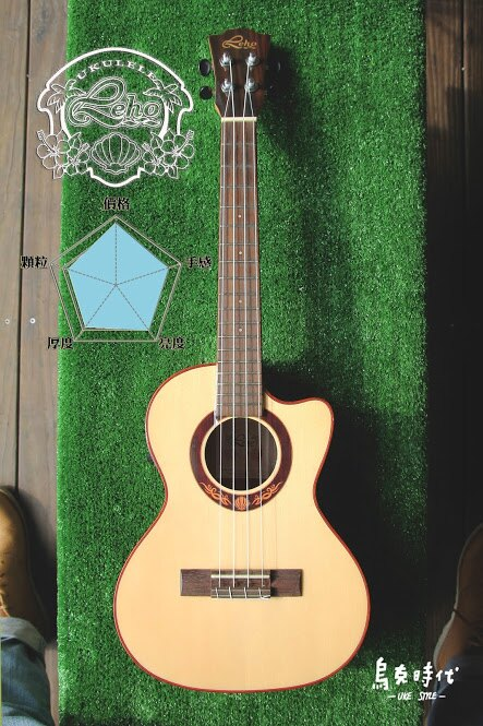烏克時代~Leho LHT-SWR-CE 26吋面單板雲杉 玫瑰木