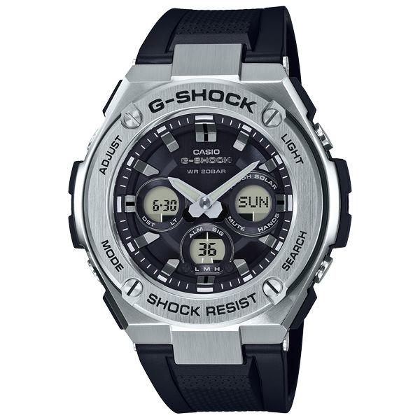 CASIOG-SHOCKGST-S310-1A絕對強悍雙層結構雙顯太陽能腕錶50mm