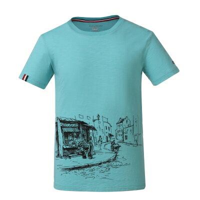 La proie 男式休閒文化衫-天池綠