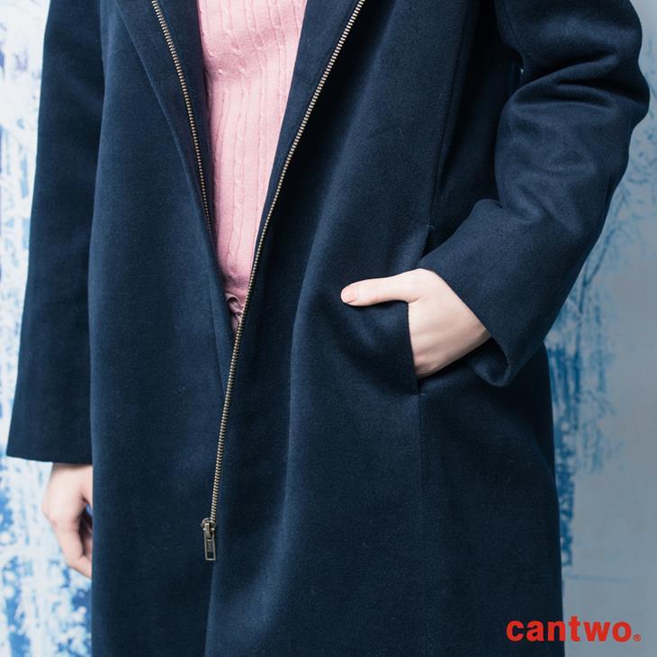 cantwo俐落H線條連帽大衣(共二色) 5