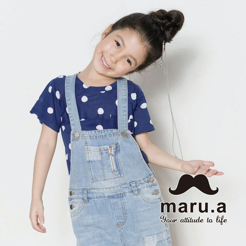 【mini maru.a】童裝親子裝滿版圓點小口袋T-shirt(2色)7351218 6