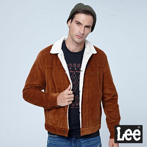 Lee燈心絨騎士外套101+-深棕色