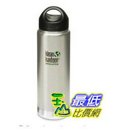 [103 美國直購] Klean Kanteen Wide Insulated Water Bottle K20VWSSL 寬口不鏽鋼瓶 保溫瓶/水壺 20oz / 591ml 可利鋼  O46