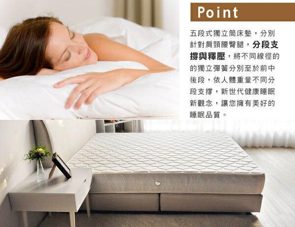 艾麗絲舒眠五段式獨立筒床墊 / 雙人5尺(軟硬適中) / H&D東稻家居 / 好窩生活節 2