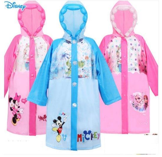 正版迪士尼 兒童雨衣 加厚卡通 男女童 小學生帶書包款 米奇米妮冰雪奇緣