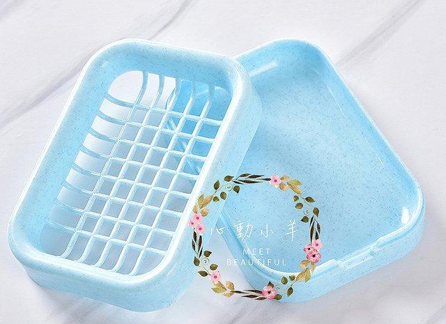 心動小羊^^雙層自動排水肥皂盒 塑料肥皂盒 浴室香皂盒 廁所廚房 皂架 皂托手工皂盒 肥皂盒 香皂盒 皂盤 晾皂架